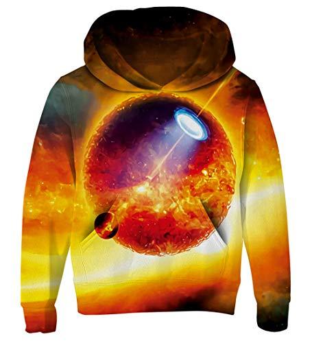 Goodstoworld 3D Kapuzenpullover für Kinder Jungen Mädchen Sweatshirt Galaxy Pullover Coole Druck Lange Ärmel Pulli Hoodie