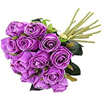 ANGLE Pequeño Rose Bud Western Rose Boda Ducha Fiesta decoración Falsa Flor simulación Artificial ...
