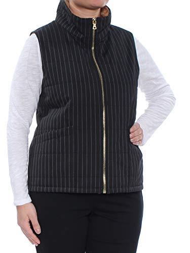 Anne Klein Women's Pinstripe Vest, Black/White, L Elite Lightweight Vest