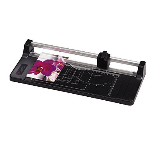 Hama Rollen-Schneidemaschine A4 (Papierschneidemaschine mit Rundmesser, geeignet für Papier, Fotos und Folien bis A4-Format, 32 cm Schnittlänge) schwarz (Pergament-foto-papier)
