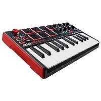 Akai Professional MPK Mini MKII | 25-Key Ultra-Portable USB MIDI Drum Pad & Keyboard Controller with Joystick, VIP Software Download Included