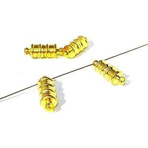 3 Magnetverschluss,Verschluss, Tube, gold, U44