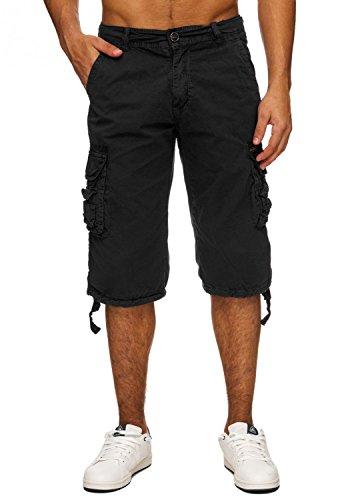 Herren Cargo-Shorts · (Relaxed Fit) Kurze Jeans Bermuda Sommer Cargo Short Freizeit Adventure Hose aus reiner Baumwolle · H1740 in Markenqualität (Relaxed Shorts Fit)