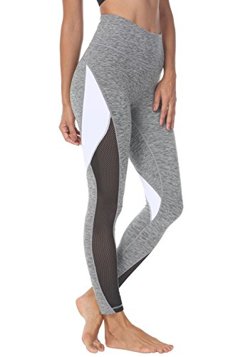 c2bfd7040b755 Queenie Ke Women Yoga Pants Color Blocking Mesh Workout Running Leggings  Tights Size XL Color Dark