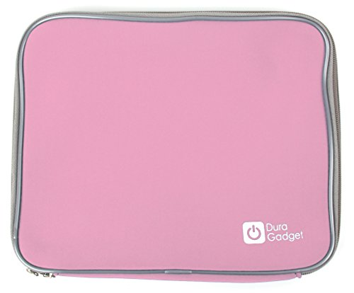 Transporthülle Tasche Case in Rosa. Robust & wasserabweisend. Für Lenco DVD-Player DVP-934 | DVP-938 (x2)| DVP-939 Dual-Set | 9.5
