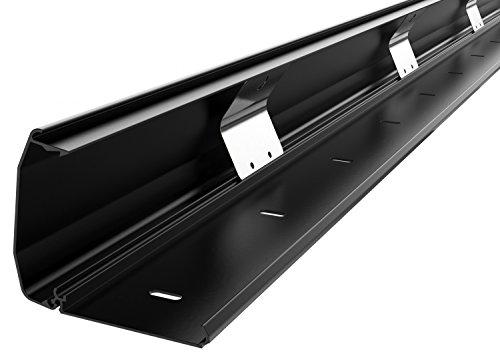 RICOO Kabelkanal Kabelschlauch Z1110-B Kabelhalter Kabelmanagement Kabeldurchführung Kabel Organizer Verstecken Alu Aluminium Klappmechanismus 110cm Schwarz