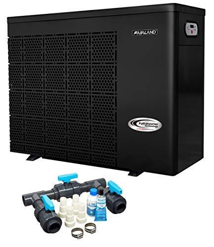 well2wellness Wärmepumpe Heizpumpe Full-Inverter Plus IPHC45 by Fairland® - Poolheizung mit Einer Heizkapazität bis 17,5 kW + Bypass Set Basic
