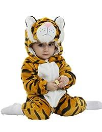 Jumpsuit Bebé Unisexo Bebé Recién Nacido Franela Mameluco Invierno Ropa Una Pieza Pijamas Animal Caricatura Trajes
