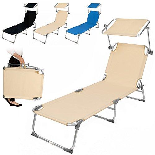tectake-sedia-sdraio-da-esterno-con-tetto-pieghevole-in-alluminio-disponibile-in-diversi-colori-beig