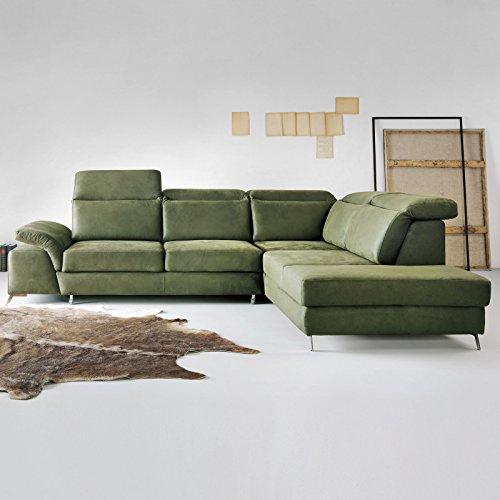 Ecksofa mit Schlaffunktion und Bettkasten XXL Monti Designer Wohnlandschaft Schlafcouch Sofa Bettfunktion (Standard)