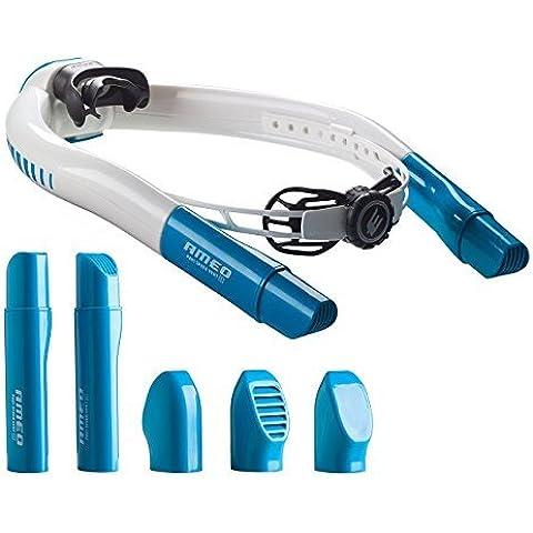 AMEO POWERBREATHER PB01 WAVE EDITION siempre aire fresco, sin péndulo respiración a través de la tecnología de válvulas patentada (Esnórquel, Esnórquel del Nadador)