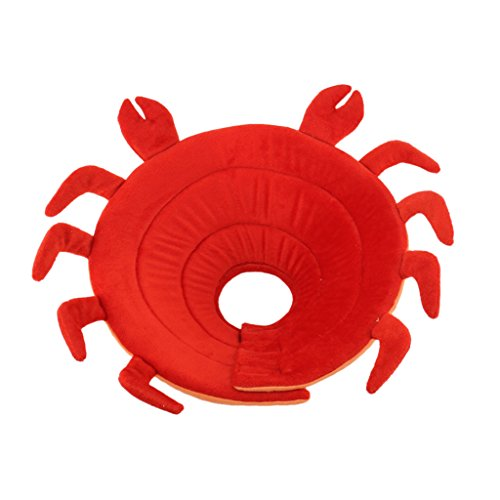 MagiDeal Cane Gatto Elisabettiano Collare Medico Ferita Cono Copertura Sicura Collo Decorativi per Animali Domestici - Rosso, XL