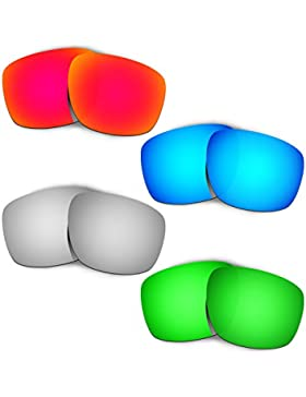 Hkuco Plus Replacement Lenses For Oakley Sliver - 4 pair Combo Pack