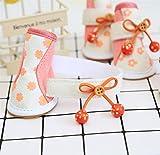Süße Stiefel Hund Schuhe Cute Print Waterproof Anti-Rutsch-Bogen für kleine Hunde für deine Haustiere