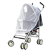 Oddalsail Home textile finished product Baby stroller mosquito net QFT239 White