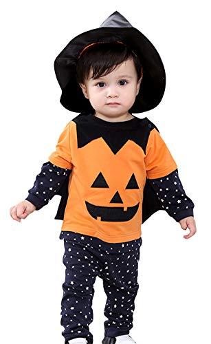 (Eozy Baby Halloween Kostüm Kleinkind Kürbis Kostüm Karneval Fasching Kostüme Cosplay Größe 90)