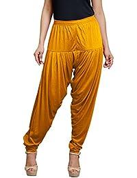 Goodtry Women's patiyala Free Size-Musturd
