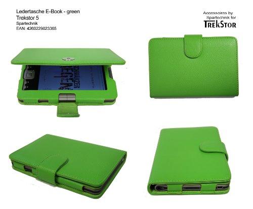 Grüne Tasche für Trekstor 5 & Trekstor 5M E-Book Reader - bestes Case für TrekStor e-book Reader 5 M Movie mit Öffnung für Lautsprecher - Elektronisches Buch Farbe - gruen