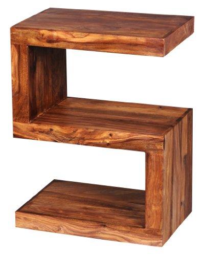 Wohnling s cube wl1.302 - tavolino in legno massiccio, 45 x 30 x 60 cm