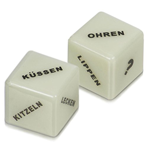 Price comparison product image Paul 2 Pack of Love Dice Glow in the Dark