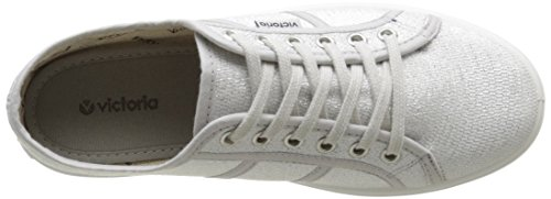 Victoria Tejido Lurex, Baskets Basses Mixte Adulte Argent (14 Plata)