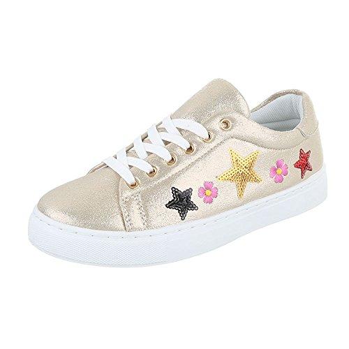 Ital-Design - Pantofole Donna Gold FC-S27