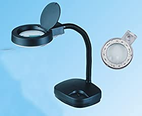 Buyyart New MAX PAMMA Gooseneck Magnifying Lamp Magnifier 5X 10X Desk Adjustable Light Jewelry