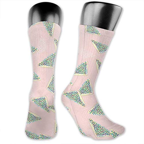 Dama Home Fairy Bread Pink By Mount Vic And Me Casual Athletic Crew Socks Running Gym Compression Foot -
