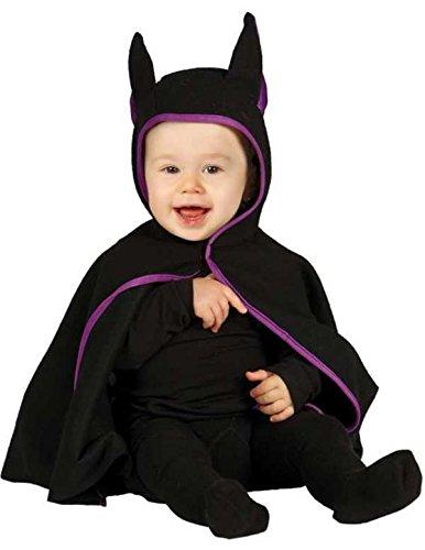 Baby Fledermaus Kostüm schwarz/lila (12-24 (Cape Kostüm Ideen Lila)