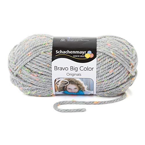 Schachenmayr Bravo Big Color 9807720-00391 hellgrau tweed Handstrickgarn -
