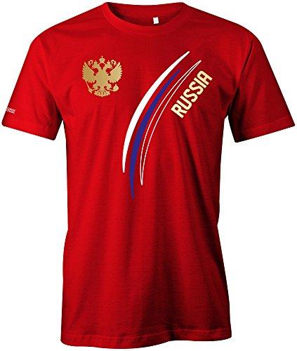 Russia Fan T-Shirt 103 - Herren Rot Gr. M
