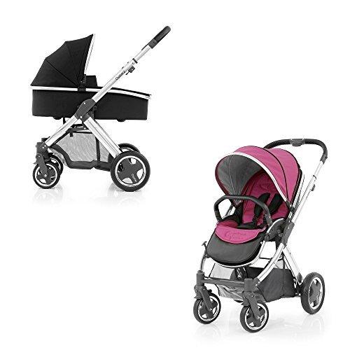 BabyStyle Oyster 2 Kinderwagen Spiegel (Wow Pink) & Trageschale