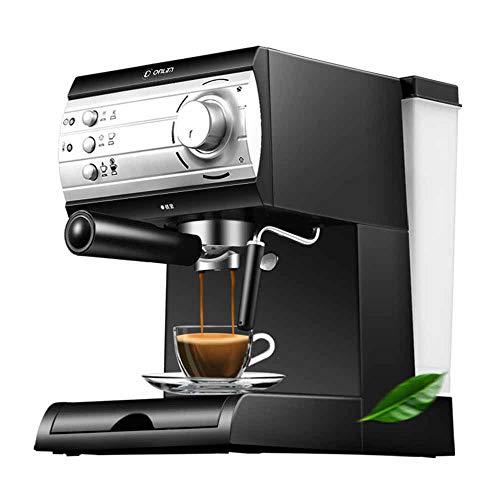 HM2 Kaffee- und Espressomaschine, Vollautomatische Halbschaummilchschaummaschine, Schwarz - Schwarze Halbautomatische Espressomaschine