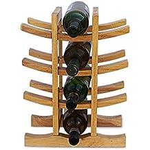 Minghou 12 Botella De Madera Botella De Vino Pantalla De Imitación Bambú Bodega De Madera De Almacenamiento