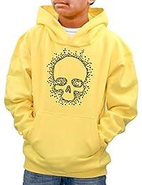 Personalised name Boys Halloween Diamante Skull Hoodie - kids -Various sizes & colours