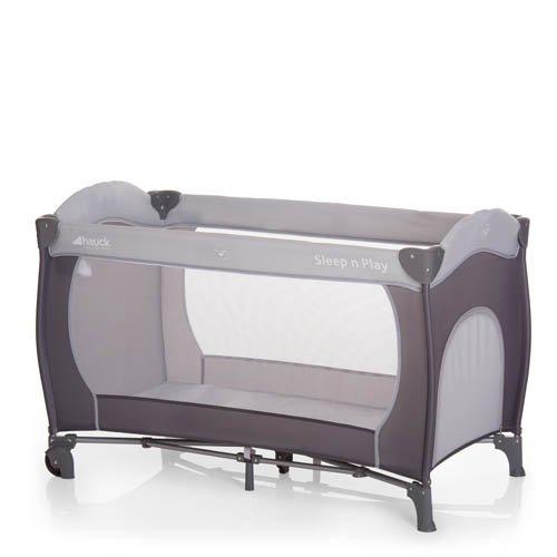 Hauck 600566 Kombi-Reisebett Sleep N Play Center, inkl. Neugeborenen-Einhang, Wickelauflage, Rollen, Matratze, Tragetasche, höhenverstellbar und faltbar, 125 x 69 x 82 cm, grau
