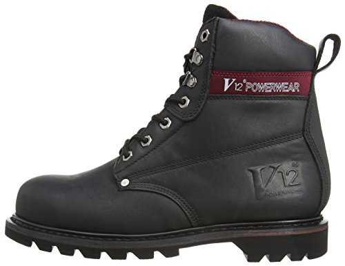 V12 Boulder, Honey Nubuck Safety Boot, 13 UK 48 EU, Gold (Honey Nubuck) Nero (Black)