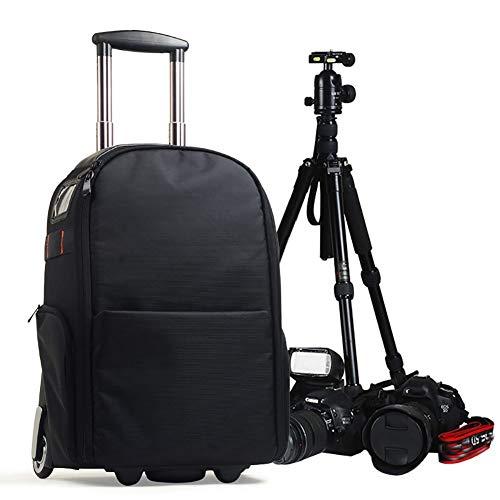 XM Kamerarucksack Kameratasche DSLR Rucksack Daypack Mit Trolley Fixiergurt Mit 15.6 Zoll Laptopfach Kameras