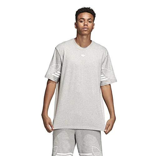 adidas Herren Outline Tee T-Shirt, medium Grey Heather, L