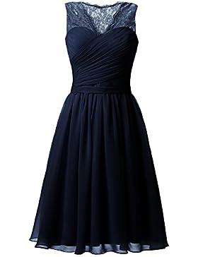 Sarahbridal Damen Mini Chiffon Ballkleid Herzenform Abendkleider Faltenrock Abschlussballkleider SSD358