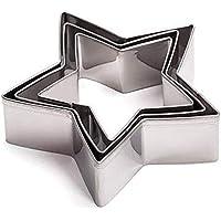 Cosanter Moldes para Cortar Galletas moldes de Galletas Acero Inoxidable Forma de Pentagram para Hornear Fondant