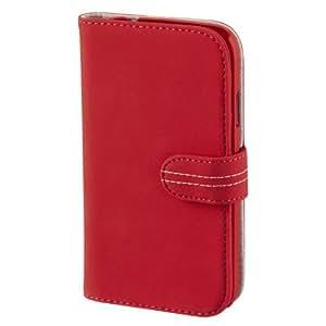 Hama Portfolio Nubuck Etui portefeuille en néoprène pour Samsung Galaxy S4 Rouge