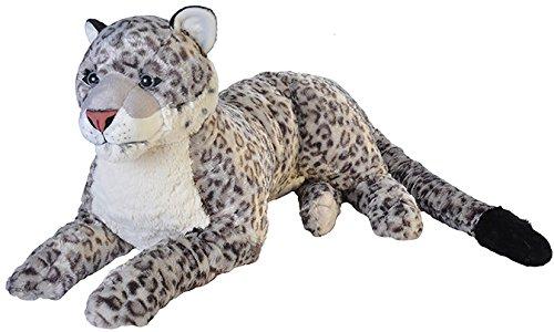 Wild Republic 19551 Jumbo Plüsch Schneeleopard, großes Kuscheltier, Plüschtier, Cuddlekins, 76 cm (Wild Kuscheltier Katze)