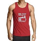 lepni.me Weste Bier Aufladung - Alkohol Hemden, Büro Kleidung, für Party (X-Large Rot Weiß)