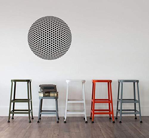 Kugelförmige geodätische Gittervinylwanddekoration Geometriekünstlerwohnzimmerwand-Modedekoration 57 * 57cm der optischen Täuschung