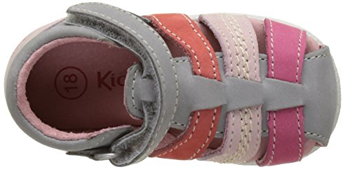 Kickers Babysun, Sandales bébé fille Gris (Gris Clair Corail)