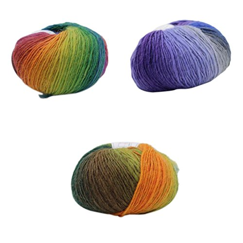 FITYLE Rainbow Knitting Crochet Supplies