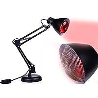 100W Weit Infrarot Hitze Lampe DeskTop rot Therapie Licht Zeit Rahmen Einstellbar Temperatur Schmerzen Linderung Mit Birne
