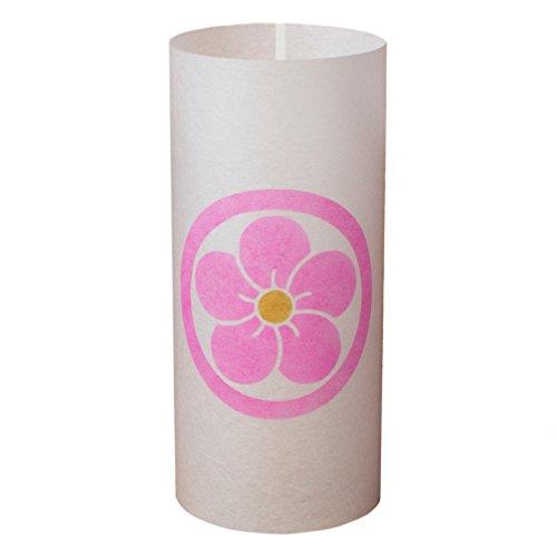 MARU NI NEJI UME - Japanische Lampe Handgefertigt - Licht, Lampenschirm, Laterne, Shoji Lampe - Japanische Möbel - Asiatische, Orientalische Lampe (Japanische Shoji-laterne)