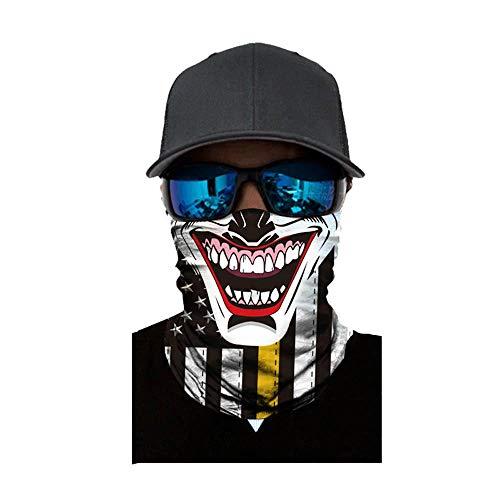 NINGSANJIN Face Shield Sturmhaube ,viele verschiedene Designs* Multiunktionstuch Maske Fishing Totenkopf Schal Skull Bandana Gesichtsmaske Halstuch Ski Motorrad Paintball Face Shields Maske (H)